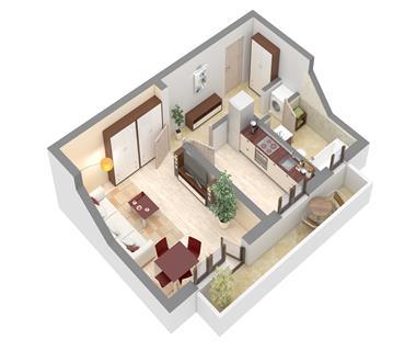 Apartament Nou 1 camere  de vanzare  Nicolina - C.U.G.