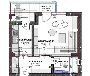 Apartament Nou 1 camere  de vanzare  Copou