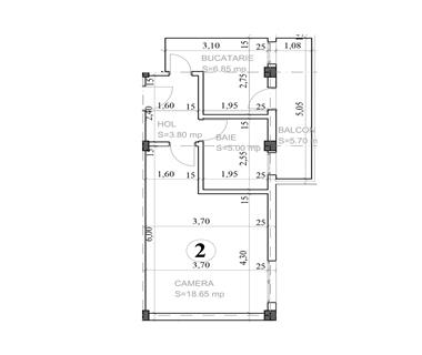 Apartament Nou 1 camere  de vanzare  Horpaz