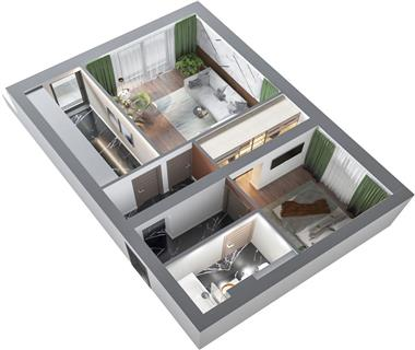 Apartament Nou 2 camere  de vanzare  Frumoasa