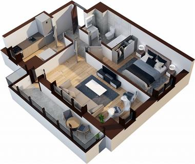 Apartament Nou 2 camere  de vanzare  Tatarasi - Oancea
