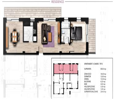 apartament nou 3 camere  de vanzare  bucium Iasi