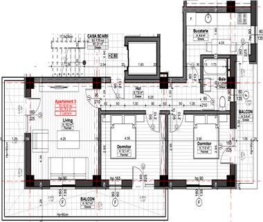 Apartament Nou 3 camere  de vanzare  Bularga Baza III